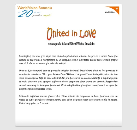 United in Love - Email 3