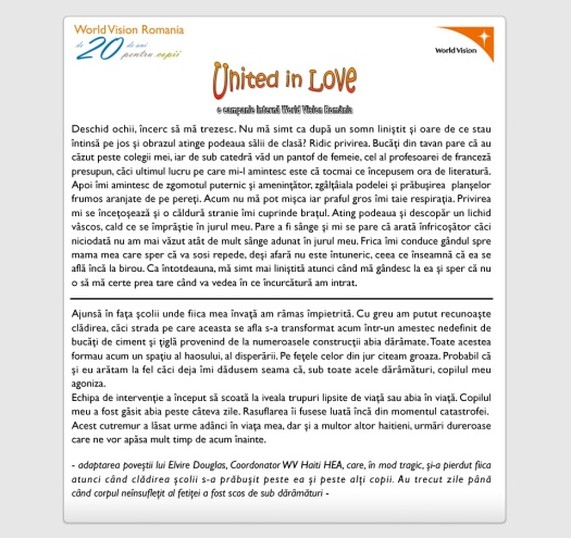 United in Love- Email 2